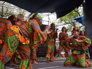N'Fungola Sibo African Dance at Congo Square New World Rhythms Festival 2013 [Photo by Melanie Merz]
