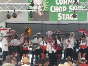 Million Dollar Baby Dolls onstage with the Bone Tone Brass Band and Al