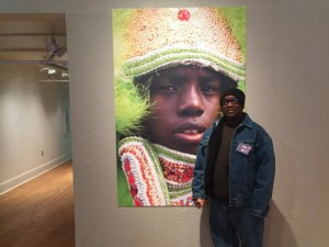 One of Keith Hill's Creole Wild West portraits on display at Artspace [Photo courtesy Keith Hill]