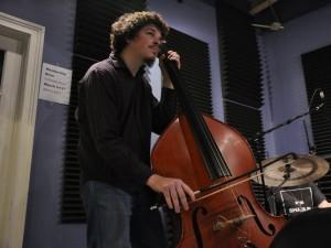 Nathan Lambertson of Dinosaurchestra [Photo by Leona Strassberg Steiner]