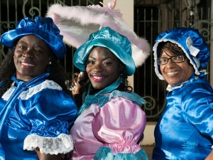 Treme Baby Dolls before the Brass Menagerie Parade on November 8, 2014 [hoto by Ryan Hodgson-Rigsbee]