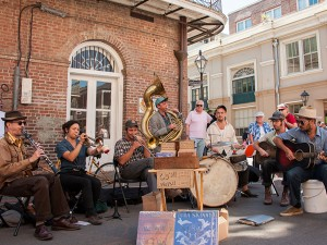 Tuba Skinny on the street. Photo by Michael E McAndrew.