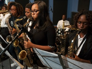 Students from KIPP Believe College Prep Jazz Ensemble [Photo by Ryan Hodgson-Rigsbee]