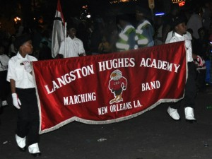 Langston Hughes Academy marches in Oshun 2013 [Photo by Stafford]