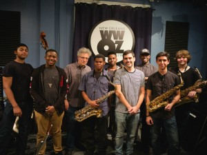 NOCCA Jazz Ensemble at WWOZ in 2016 [Photo by Ken Maldonado]