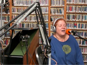 Lil Queenie at WWOZ in 2004 [Photo by Black Mold]