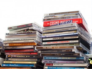 CDs in the studio