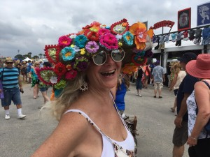 Jazz Fest hat [Photo by Carrie Booher]