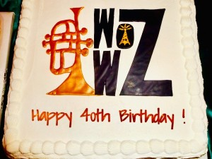 WWOZ 40th birthday cake