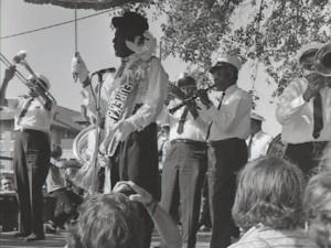 Eureka Brass Band at Jazz Fest 1971 [Photo by John Messina, courtesy of the Jazz & Heritage Archive]