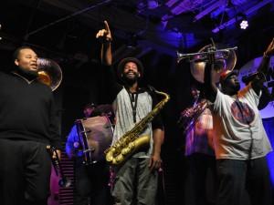 Hot 8 Brass Band [Photo by Leona Strassberg Steiner]