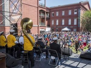 Treme Brass Band at French Quarter Fest 2018 [Photo by Ryan Hodgson-Rigsbee]