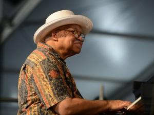Ellis Marsalis at Jazz Fest [Photo by Leon Morris]