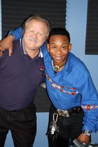 WWOZ show host Big D with bluesman Troy Turner. Photo courtesy of Robin Turner.