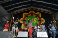 Big Freedia onstage with Soul Rebels at Jazz Fest 2014 [Photo by Leon Morris]