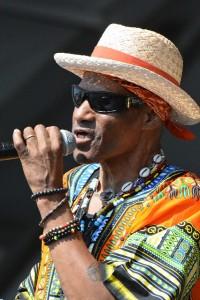 Cyril Neville at Jazz Fest 2015 [Photo by Kichea S. Burt]