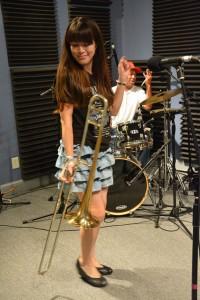 Haruka Kikuchi at WWOZ Nov. 6 2015 [Photo by Kichea S. Burt]