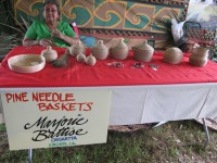 Traditional Native American pine needle baskets from Marjorie Battise of Kinder, LA in 2011 [Photo: Briana Prevost]