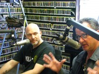 Michael Cerveris and Paul Sanchez at WWOZ [Photo by Danielle Small]